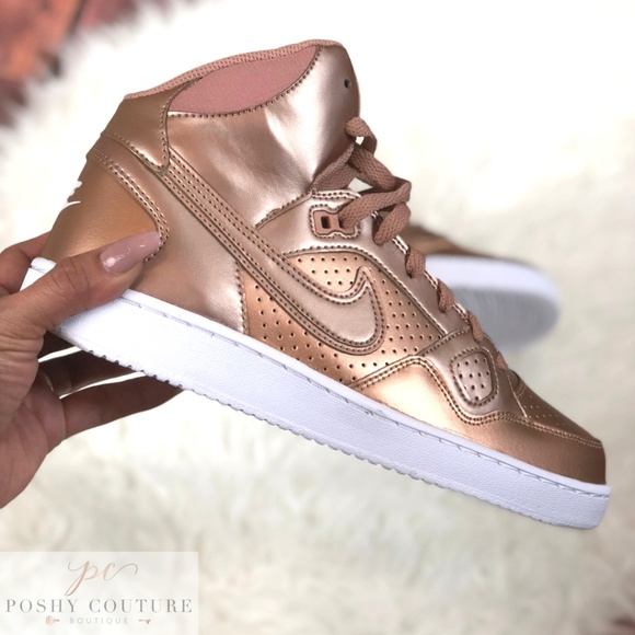 reputable site 8e4a4 9cd29 NIKE Son of Force Mid Rose Gold Bronze 11.5